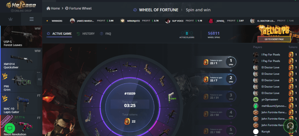hellcase wheel of fortune